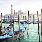 Italy Venice Gondolas Parked by Yuriy Shevchuk
