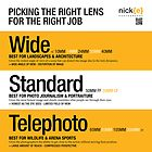 Picking the right lens for the right job. by Nick Griffin