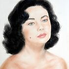 Portrait of a Young Liz Taylor  by jimfitz