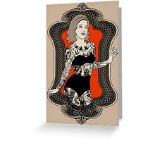 Golden Age of Sideshow - Tattooed Woman Greeting Card