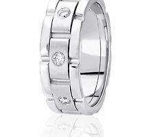 His & her wedding bands and Eternity wedding band by weddingbands25