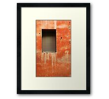 Window in Red Wall Framed Print