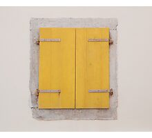 Yellow Shutters in Piran Photographic Print