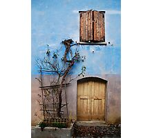 Window and Door in Blue Wall, Topolo Photographic Print