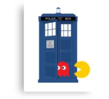 Dr. Who Tardis Pacman T Shirt Canvas Print