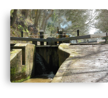 Canal at Tyrely Locks. Canvas Print