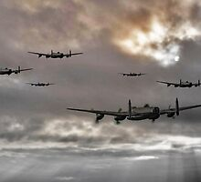 Lancaster Raid by James Biggadike