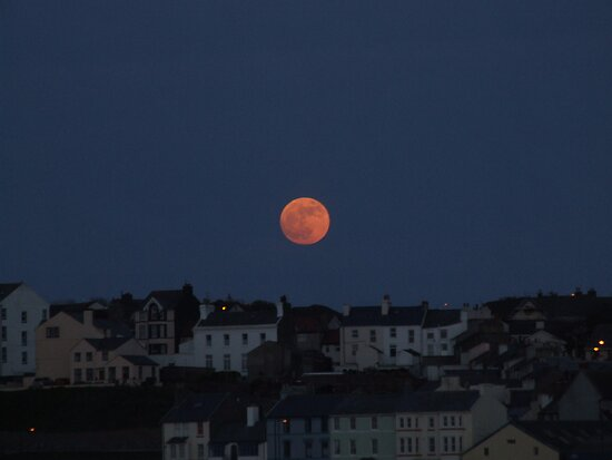 Super Moon, Isle of Man by AbbieeHarveyy