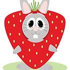 Strawberry Bunny by EmilyListon4