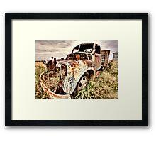Vintage Truck abandoned Saskatchewan Field Canada Framed Print