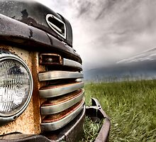 Old Vintage Truck oon the Prairie Saskatchewan by pictureguy
