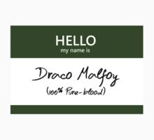 Draco Malfoy Name Tag by Kristina Moy
