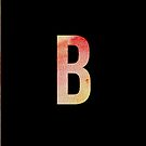 Watercolour Monogram: B by sophiestormborn