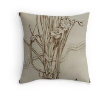 Narcissus and Echo - Walnut Ink Throw Pillow