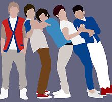 One Direction Full Group Block Colour by gr8designs4u