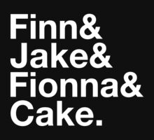 Finn & Jake & Fionna & Cake (white type) by freakysteve