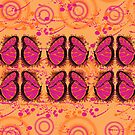 Pink and Tangerine  Psychedelic  Spring  by JanDeA