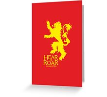 Game of Thrones - Lannister house v2 Greeting Card