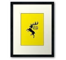 Game of Thrones - Baratheon house v2 Framed Print