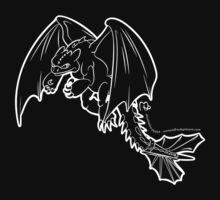 Toothless - Night Fury WHITE by MikePHearn