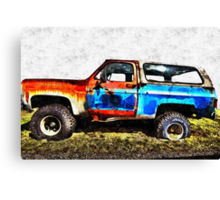 Chevy Blazed Out Canvas Print