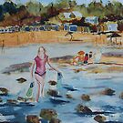 Mornington Beach (Watercolour) Victoria Australia by Margaret Morgan (Watkins)