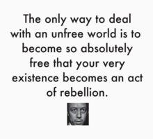 Camus Quote 1 (black text) by ckablue