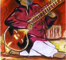 Sitar Player by Nadira1010