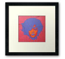 """Warhol Stencil Graffiti """"Kate"""" Framed Print"""