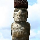 Moai with hat by Maggie Hegarty