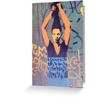 "Awesome Stencil Graffiti - ""Hair There"" Greeting Card"