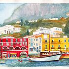 Port of Capri, Italy by Dai Wynn