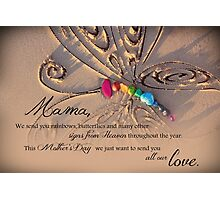 Rainbows and Butterflies from Heaven - Mother's Day - Multiple Children Photographic Print