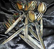 Silver WMF Spoons and Cake Forks by Bine