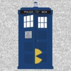Pacman in Dr. Who Tardis T Shirt by Fangpunk