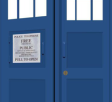 Pacman in Dr. Who Tardis T Shirt Sticker