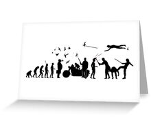 Evolution All Stars T Shirt Greeting Card