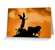 Chariot Of Fire Greeting Card