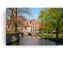 Minnewater in Brugge, Belgium Canvas Print