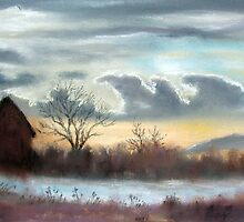 Sunset over Milton Farm by bevmorgan