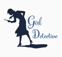 Girl Detective (dark on light) Kids Clothes
