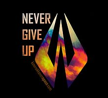 Never Give Up - iPhone Cover Black - Kimi Raikkonen by evenstarsaima