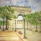 Arc De Triumph, Paris  by Caroline  Hajjar Duggan