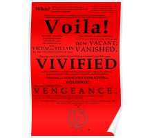 V For Vendetta Pentalogue Poster