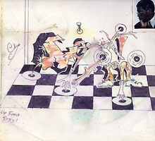 Photography, graffiti, and  graphics!....GERONIMO!..PLAYS CHESS! by soulfingerclive