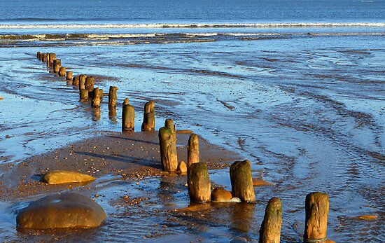 Worn away by the sea by John (Mike)  Dobson