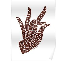 heart in hand in milk chocolate Poster