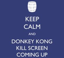 Keep Calm and Donkey Kong Kill Screen by artisticgerbil