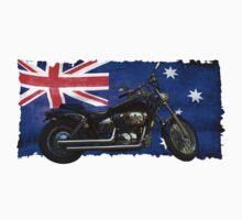 Australian Downunder Flag, Motorcycle Biker Design by Val  Brackenridge