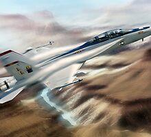 U.S. Navy F18 Hornet. by Bob Martin
